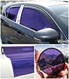 VViViD Colorful Transparent Vinyl Car Window Tinting 30 Inch x 60 Inch 2 Roll Pack (Purple)