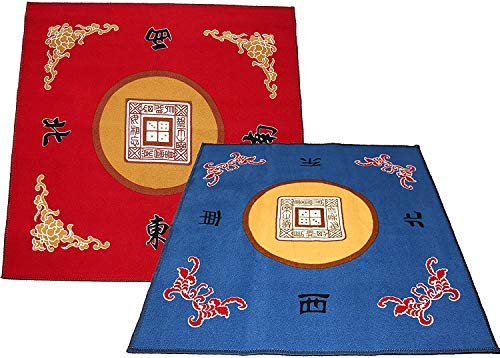 31.5' Table Cover - Slip Resistant Mahjong Game / Poker / Dominos / Card Tablecovers Table Top Mats 2 Pack (at Random Colors)