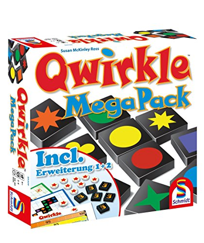 Schmidt Spiele 49309 Qwirkle Mega Pack - Juego de Mesa, Multicolor (Idioma...