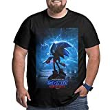 Photo de EYSKJ Hero Sonic-Hedgehog Movie 2019 Shirt Men's Casual Big Size Short Sleeve Crew Neck Casual Slim Fit T-Shirts