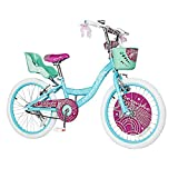 COEWSKE 18 Inch Kids Bike with Basket/Doll Seat/Training Wheels/Kickstand Fit for Ages 4 to 7 Years Old 85% Completed(18Inch/Blue)