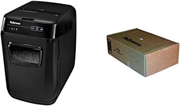 $326 » Fellowes AutoMax 150C 150-Sheet Cross-Cut Auto Feed Shredder, Black & 36053 Powershred Shredder Waste Bags for 90S, 99Ci, ...