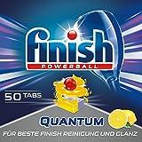 Finish Quantum Citrus Spülmaschinentabs, phosphatfrei – Geschirrspültabs mit Power Gel für strahlend sauberes & glänzendes Geschirr – Großpackung mit 50 Finish Tabs -
