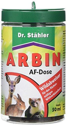 Dr. Stähler 005781 Arbin Wildabweiser, Duftzaun/Bezirksduftmarke gegen Wildtiere, Anwendungsdose inkl, 50 ml Lösung