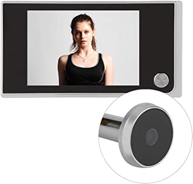 Zopsc Screen Digital Doorbell 3.5 inch LCD Color Screen HD 120° Wide Angle Visual Camera Door Peephole Viewer Monitoring Supp