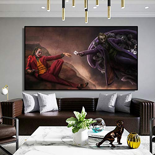 ganlanshu Pintura sin Marco Creative Art Clown Poster Wall Art Painting Home Living Room decorationZGQ3235 60X110cm