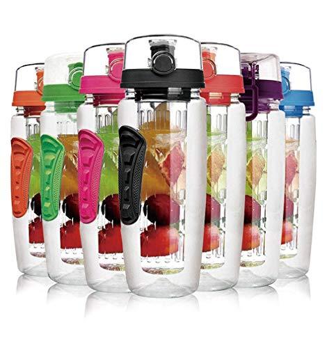 Laptone Water Flasche, Schwarz, 800 ml