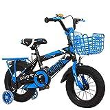 """Kays Bicicletta per Bambini Bambino Bicicletta Bambini Bici for 2-10 Anni, nel Formato 12"""" 14"""" 16"""" 18"""", con Sede Adjustable Handlebar Bicicletta per Bambino (Color : Blue, Size : 18 inch)"""