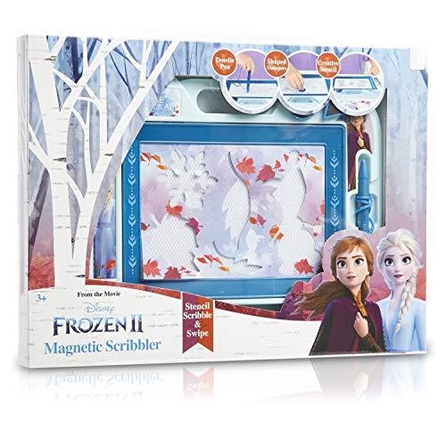 Disney Frozen 2 Magnetische Maltafel Zaubertafeln für Kinder ab 3 Jahren mit Stempel und Schablonen von Die Eiskönigin 2, Pädagogische Magnettafel Spielzeug Kleine Geschenke Für Kinder 3 4 5 Jahre alt