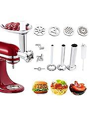 aikeec Mat köttkvarn tillbehör för kökshjälpen-stativ mixer (ersättning), korvfyllare tubtillbehör kompatibel med alla kökshjälpmedel hantverkare och professionella mixers stativ (uppgradera)