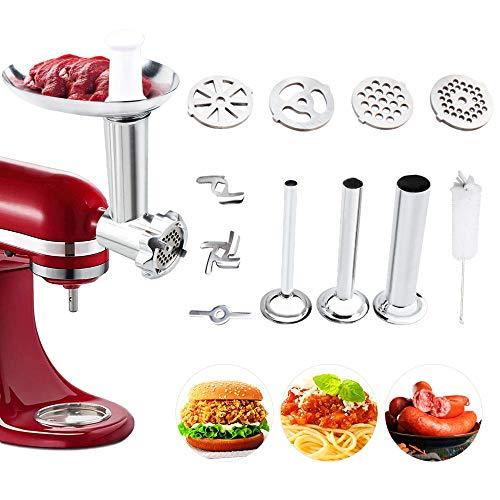 aikeec Accesorio para molinillo de carne para batidora KitchenAid Artisan y Professional Serie (Reemplazo)