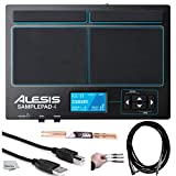 Alesis SamplePad 4 | Compact 4-Pad Percussion and Sample-Triggering Instrument with SD Card Slot + On Stage Maple Wood Drumsticks (1 Pair) + USB Cable + Cable Peel-Off Labels + Instrument Cable