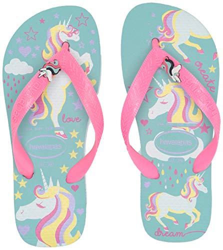 Havaianas Kid's Fantasy Flip Flop Sandal, Blue/Pink, 11/12 M US Little Kid