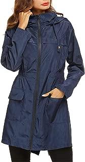Women Hiking Rain Jacket Lightweight Hooded Jacket Outdoor Breathable Windbreaker