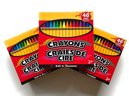 Jot Crayons With Built-In Sharpener Non-Toxic, 48 Count