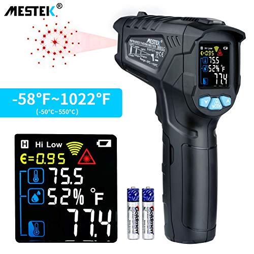 Blu//Nero ZMM TermoMetro a infrarossi,-58 ℉ ~ 716 ℉-50 ℃ ~ 380 ℃ Senza Contatto Laser Doppio termoMetro Digitale con emissivit/à Regolabile