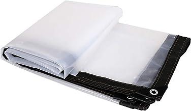 LIXIONG dekzeil transparant verdikt winddicht, stofdicht PE-isolatiemateriaal, 15 maten (kleur: helder, grootte: 3x6m)