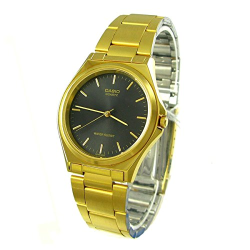 Casio Men's MTP-1130N-1A Classic Gold band with Black Index Dial Watch