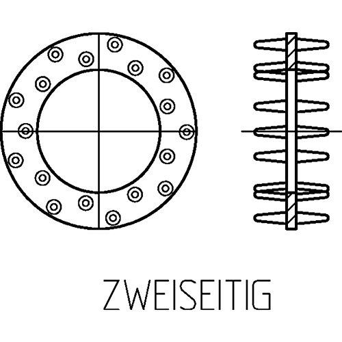 Scheibendübel Typ C 10 (zweiseitig) galv. verzinkt - DIN 1052-80 - 25 Stück