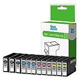 InkJello Kompatible Tinten patronen für Canon MAXIFY MB2050 MB2150 MB2155 MB2350 MB2750 MB2755-1500XL, Schwarz, Cyan, Magenta, Gelb, 12 Stück