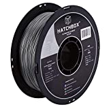 HATCHBOX TPU 3D Printer Filament, Dimensional Accuracy +/- 0.03 mm, 1 kg Spool, 1.75 mm, Shore 95A, Silver