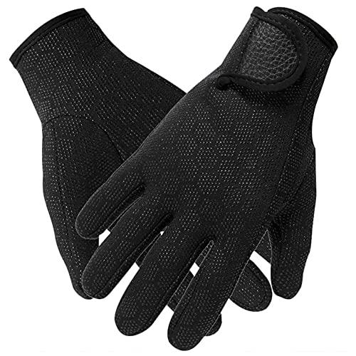 Nicejoy Guantes De Neopreno Guantes De Traje De Neopreno 1.5mm Guantes De Buceo Antideslizantes Antideslizantes Antideslizantes Térmico Ajustable Handwear Black M 1pair