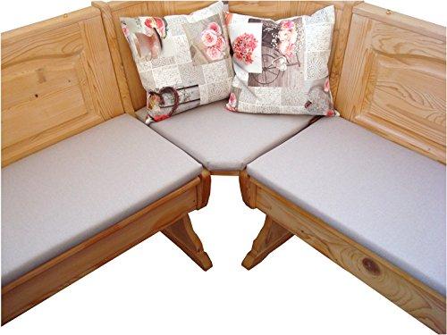 bequemer-sitzen Eckbank Auflagen, Polster-Set 110 cm, robuster Möbelstoff beige