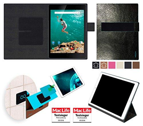 reboon Hülle für Google Nexus 9 Tasche Cover Case Bumper | in Schwarz Leder | Testsieger