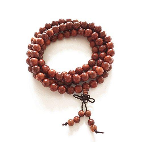 BeneAlways Cat's Eye Sandal Wood Buddha Beads Bracelet 8mm x 108 for Men & Women (8mm108)