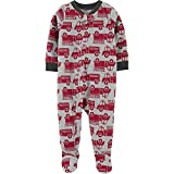 Carter's Baby Clothes Boys' 1 Pc Cotton 321g271 (12 Months, Firetruck/Microfleece)