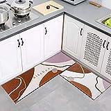 OPLJ Küchenteppiche rutschfeste Bodenmatte für Wohnzimmer Saugfähiger Teppich Flur Teppiche Raum...