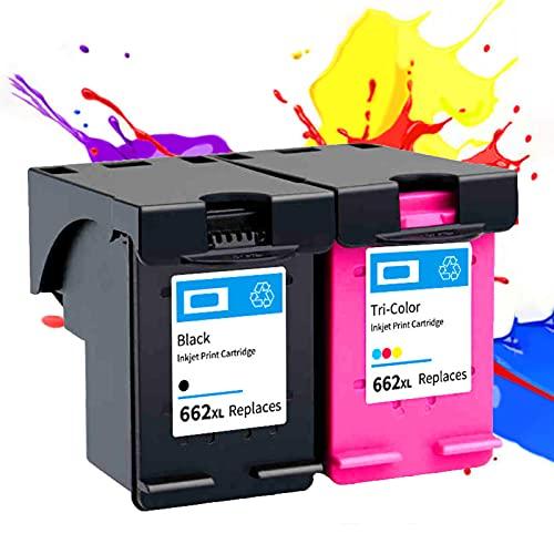 PLOKN Remanufactured Compatible para HP 662XL Reemplazo del Cartucho de Tinta para HP 2510 2515 2516 2545 2546 2548 2645 2646 2648 3510 3515 3545 35151515 4515 4515 4515 4 Black+Color