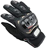 OUTLETISSIMO® Guantes de moto unisex con protecciones para nudillos para moto, motocross, enduro, color negro, talla XXL