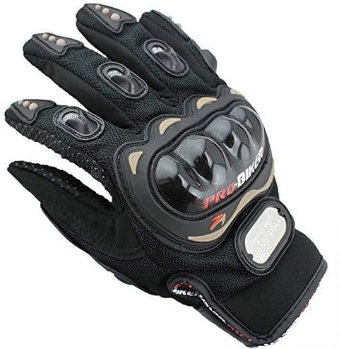OUTLETISSIMO Guantes de moto unisex con protecciones para nudillos para moto, motocross, enduro, color negro, talla XXL