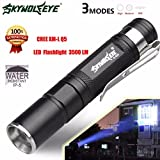 Linterna LED Q5 Mini 3500 LM Zoomable del CREE 3 Modo de la antorcha