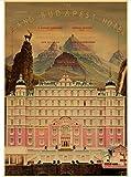 MOMEI Leinwand Poster Klassiker Wes Anderson Film Das Grand