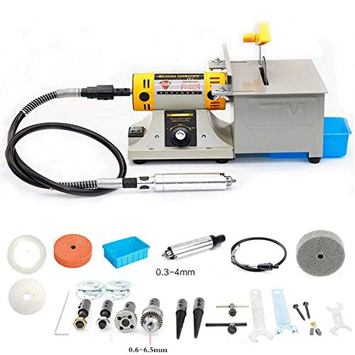 350W TM-2 Mini Multi Purpose Jewelry Rock Polishing Buffer Machine Bench Lathe & Polisher Tool Kits & Jade Cutter Cutting Machine - 110Volt