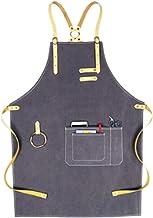 Canvas mouwloze schort, DIY schort, eenvoudige stijl, grote zakken, verstelbare riem, heren- en dames-overall, geschikt vo...