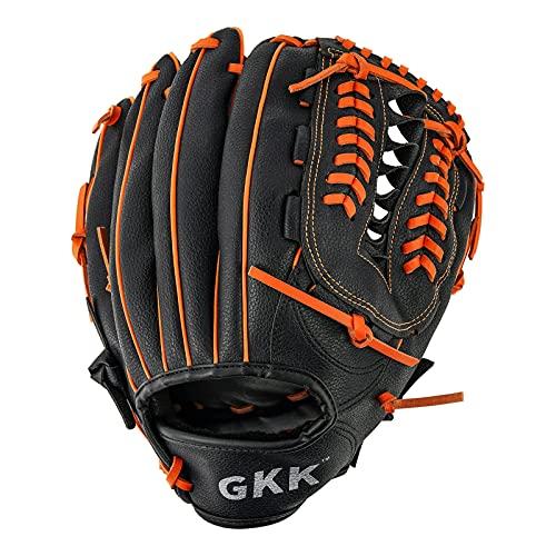 GKK Baseball- und Softball-Handschuh-Serie, Teeball-/Baseball-Handschuh, Links- und Rechtshänder, für Kinder, Jugendliche und Erwachsene (26,7 cm/31,8 cm)