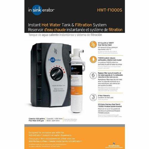 InSinkErator HWT-F1000S, One Size, Silver