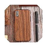 Elegante funda de madera para iPhone Xr X Xs Max 6S 6 8 7 Plus 12 Mini teléfono carcasa trasera para 5 5S SE protectora delgada estilo 1 para iPhone 6 Plus