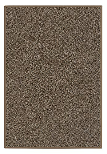 Custom Cut - to- Fit Area Rug with Multiple Colors to Choose from. Perfect for First Time Home and Apartments Renters. (5'x8', Black & Tan)