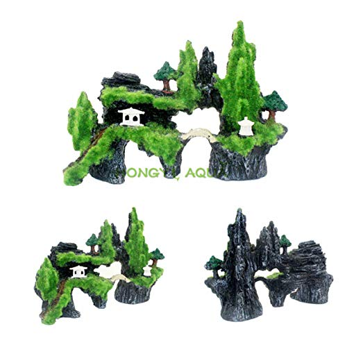 HUAYING resina de roca acuario paisajismo pecera decoración de fondo simulación rocosa artesanía