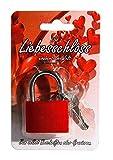 Liebesschloss ca.3,8cm rot