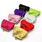 8 Pcs Sparkly Bling Coin Purses Sequin For Girl,Diva Party Favors For Xmas presents