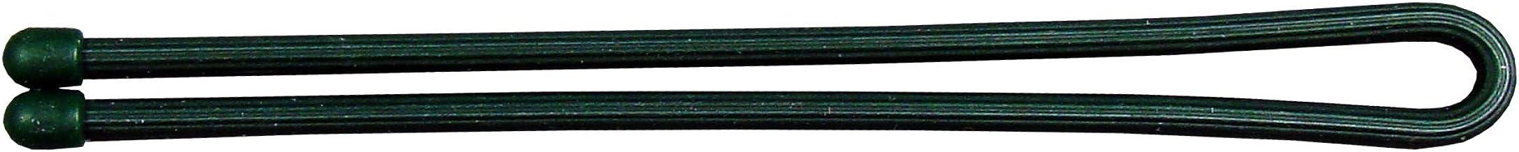 ربطة عنق ملتوية مطاطية قابلة لإعادة الاستخدام من نايت آيز، 30.48 سم، أخضر داكن، قطعتان