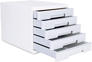 KANJJ-YU Tiroir trieuses, bureau de bureau Tiroir Armoire de table 5 couches de données supports à journaux Fournitures de...