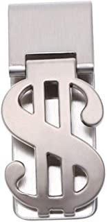 Vosarea Fermasoldi Argento a Forma di Simbolo del Dollaro Money Clip Graffetta Artigianale Gemelli Fermacravatta Iniziale ...