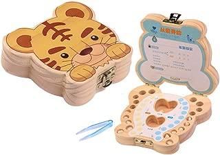 Mr.LQ Baby Teeth Box Save Organizer Zahnfee Box aus Holz erste Zahn und Lanugo Andenken Organizer