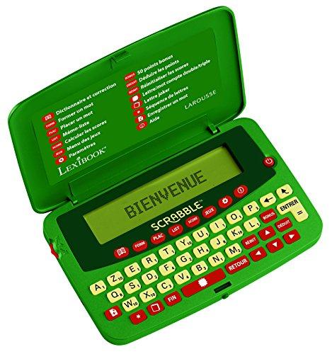 Lexibook SCF-428FR Dictionnaire électronique officiel du jeu de Scrabble ODS7, Larousse FISF, arbitre, correcteur d'orthographe, 400.000 mots, définitions, Vert